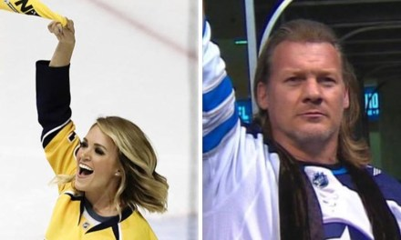 """Chris Jericho Wants to Make a """"Friendly Wager"""" with Carrie Underwood over the Jets-Predators Series"""