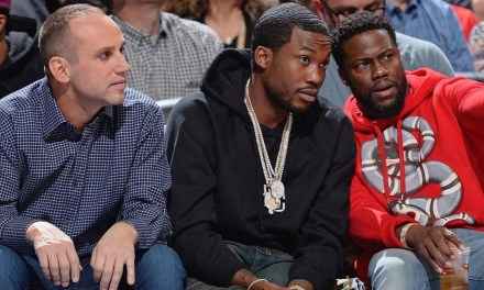 Sixers Owner Announces Meek Mill is Free, Picks Him up in a Helicopter for Game 5
