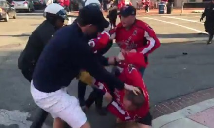 Caps Fans Celebrated Series Tying Win By Fighting Each Other in the Streets