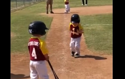 Little Leaguer Slow-Mo Runs to Home Plate