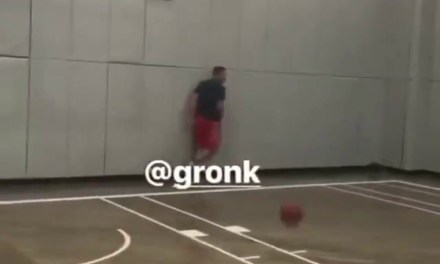 Gronk Has That Bounce on the Basketball Court and Can Still Dunk
