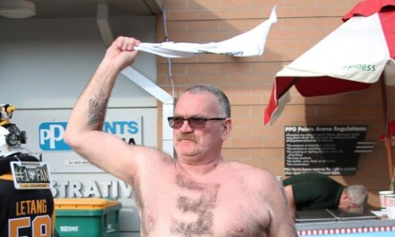 Penguins Fan Shaved His Chest Hair to Show His Support