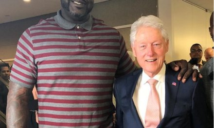 Shaq Hung out with Bill Clinton at BTIG Charity Day