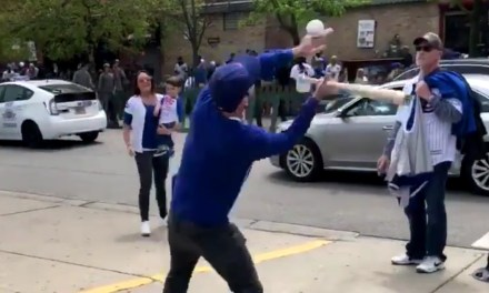 Gender Reveal Outside of Wrigley Ruined by Terrible Pitch