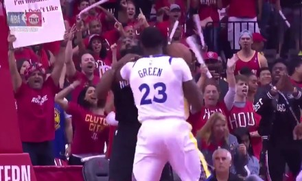 Draymond Green Got T'd Up for Elbowing James Harden in the Neck