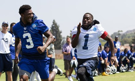 LA Rams Training Camp with Kevin Hart | Scott Eastwood
