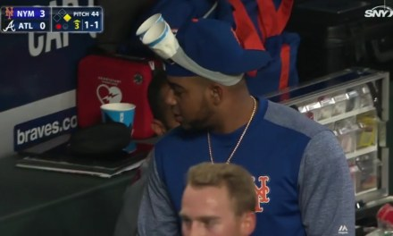 Yoenis Cespedes Wore Cup Goggles During Another Mets Walk Off Loss