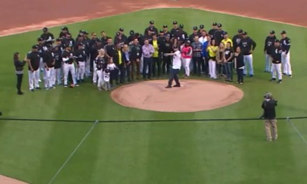 Pitcher Danny Farquhar Threw out the First Pitch Six Weeks after Suffering a Brain Aneurysm