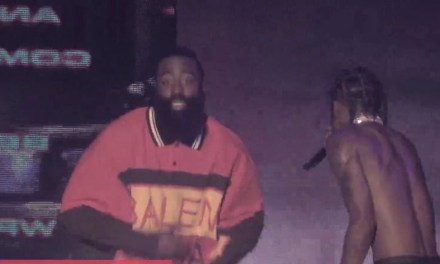 James Harden Was Jumping on Stage with Travis Scott at the Governor's Ball