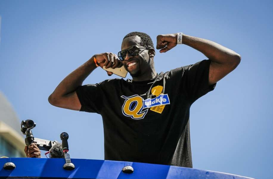 8c078a64ce34 Draymond Green T-Shirt Trolls LeBron James at Championship Parade. The  offseason is well underway, as the Golden State Warriors celebrated their  ...