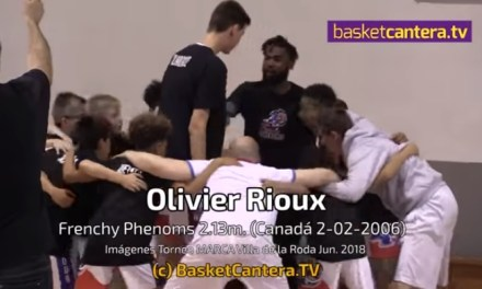 12-Year-Old 7 Footer Olivier Rioux Dominates on an Eight Foot Hoop