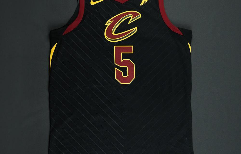 "78cd9681361 J.R. Smith s ""Oops"" Game 1 Finals Jersey Up For Auction - Sports Gossip"