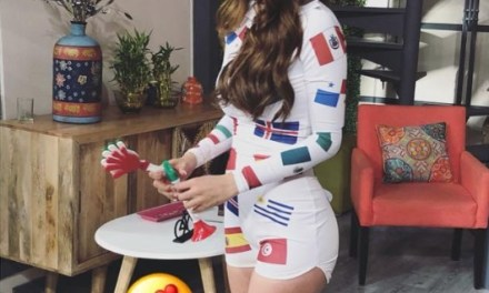 Reporter Yanet Garcia leads Celebration after Mexico's Greatest Ever World Cup Win