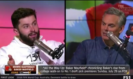 Baker Mayfield Let Old Man Colin Cowherd Have It