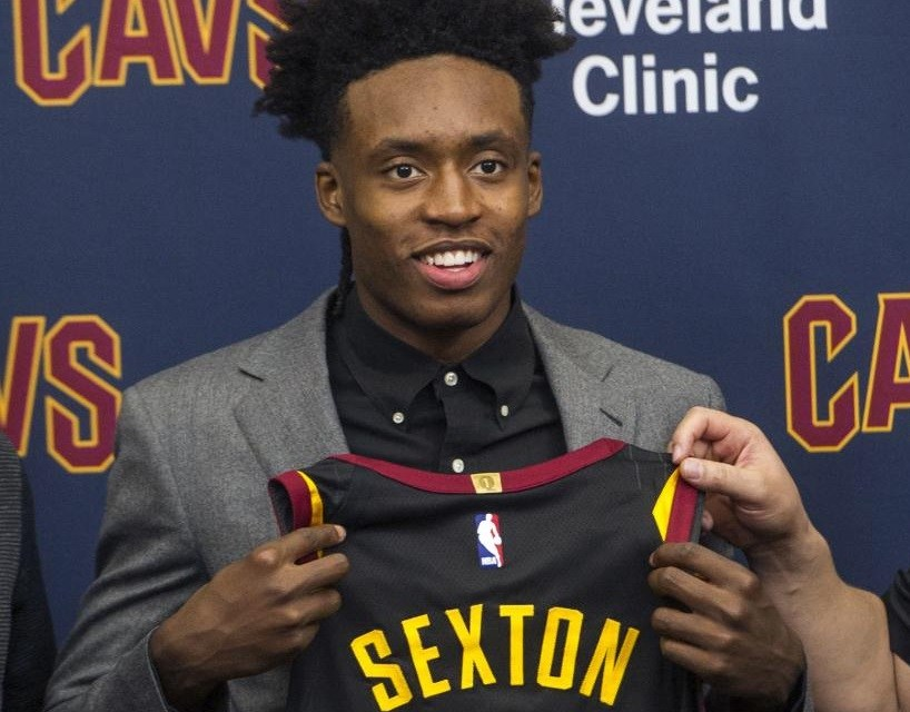 detailed look 4ab60 050db Collin Sexton Spotted At Airport in Cavs Jersey - Sports Gossip