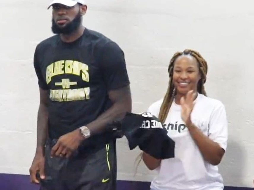 LeBron and Wife Savannah Blue Chips Basketball Parents