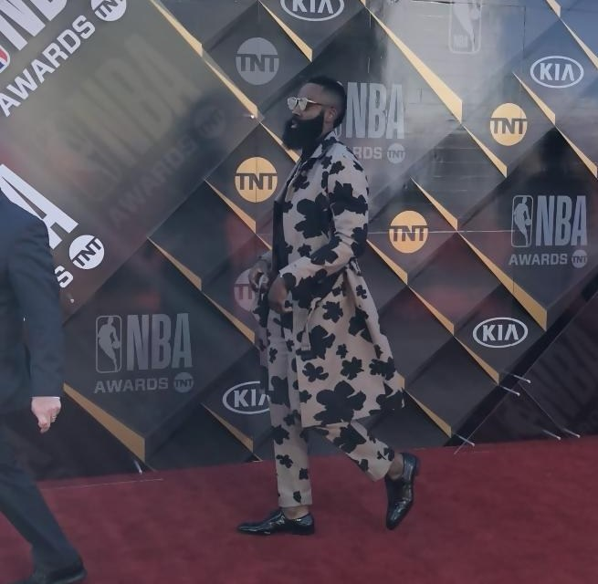 Check out James Harden's 'MVP' NBA Awards Outfit