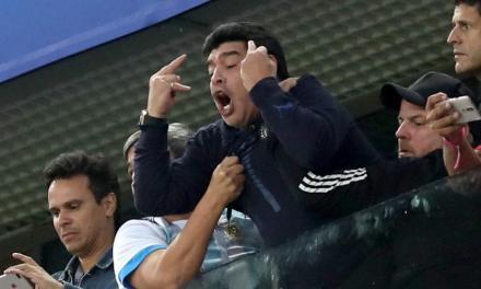 Maradona Treated by Paramedics after Flipping the Double Bird