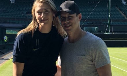 Maria Sharapova Gave Sidney Crosby a Tour of the All England Lawn Tennis and Croquet Club