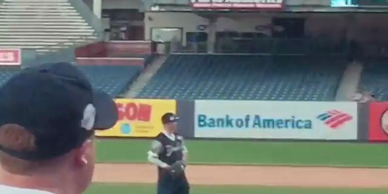 Jen Selter Swings Away at Yankee Stadium