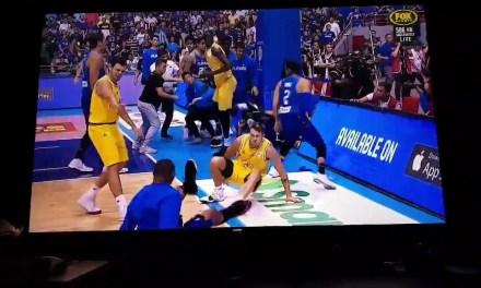 Australia vs Philippines basketball game erupts into huge brawl