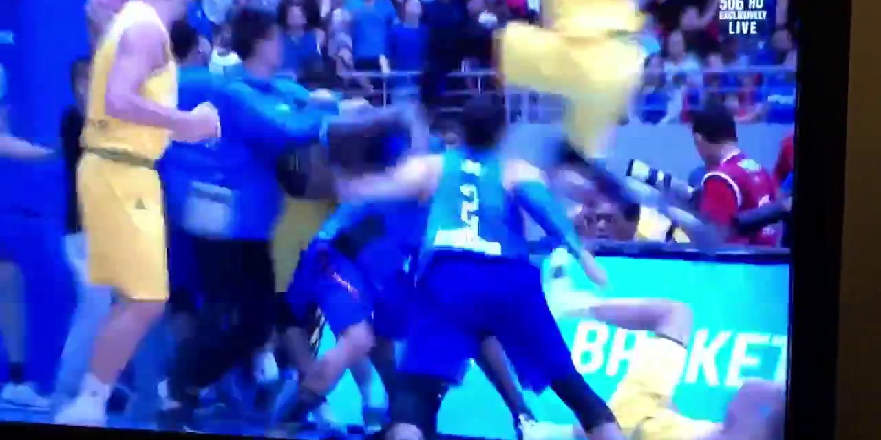 Australia vs Philippines basketball game erupts into huge brawl Part 2