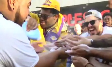 Lakers Fans Going Nuts Outside of Staples Center