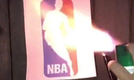 Dude Torched NBA Logo After DeMarcus Cousins Signs with the Warriors