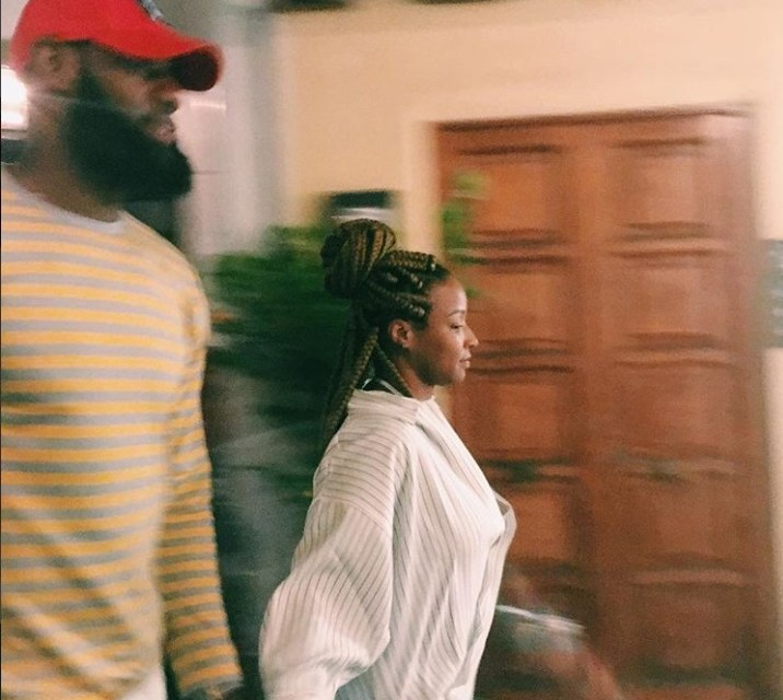 LeBron and Savannah James Having a Night out in Positano, Italy