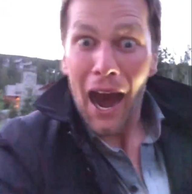 Tom Brady Films Surprise Visit by a Wild Bear