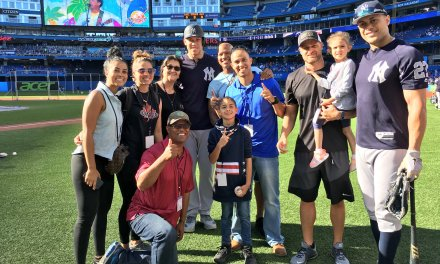 Ryan Shazier and Family Hung Out with the Yankees During BP in Toronto
