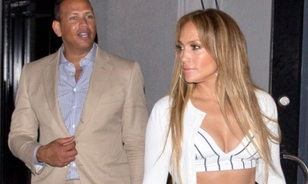 Alex Rodriguez and Jennifer Lopez Exit Dinner at Craig's Together
