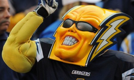 Chargers Mascot Boltman Selling his Costume on EBAY