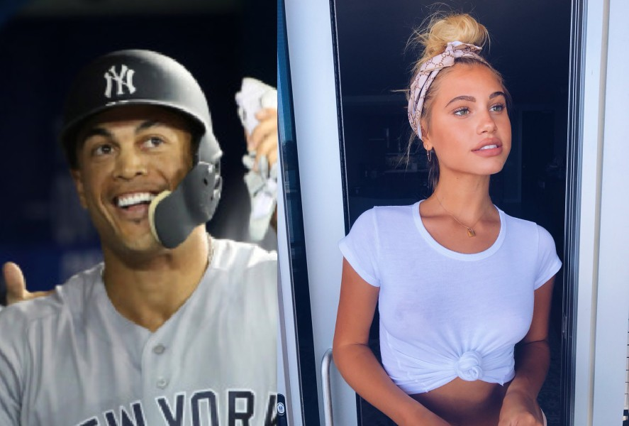 Giancarlo Stanton Enjoying the All-Star Break in Nassau with Model Chase Carter