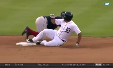 Brock Holt Had to Leave Game Early after Getting Spiked in the Knee