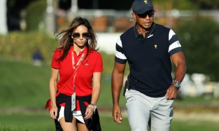Tiger Woods' Girlfriend and Kids Cheered Him on at the British Open