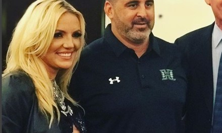 Britney Spears Impersonator a Big Hit at College Football Media Event