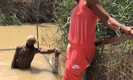 Odell Beckham Jr. Gets Baptized in Jerusalem