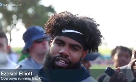 """Ezekiel Elliott Weighs in On National Anthem Protests """"We're America's Team, We Stand For The National Anthem"""""""