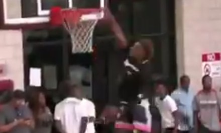 LeBron James Jr. Throws Down His First Ever Dunk