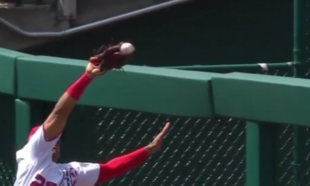 Nats Outfielder Juan Soto Helped a Wilmer Flores Fly Ball Over the Fence