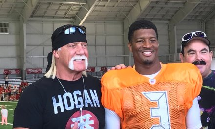 Hulk Hogan poses with Jameis Winston and Twitter Was Not Having It