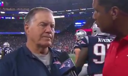 Based on Bill Belichick's Halftime Interview the Patriots Might Not Win a Game All Season