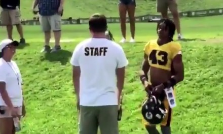 Steelers Fan Showed Up to Practice with Pads and a Helmet, Wanted to Check Antonio Brown