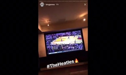 LeBron James Going Through Bottles thinking back on time with Miami Heat  Rapping!