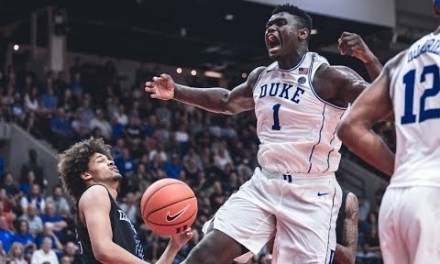 Zion Williamson Throws Down his First Monster Dunk for Duke