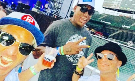 Dennis Rodman Joined Pearl Jam at Wrigley Field and Talked about His Love for Chicago and North Korea