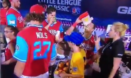 Rhys Hoskins Taking Popcorn to the Face Was the Only Highlight of the Little League Classic