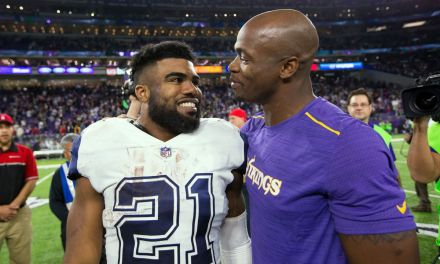 Ezekiel Elliott was Impressed by Adrian Peterson's Redskins Debut