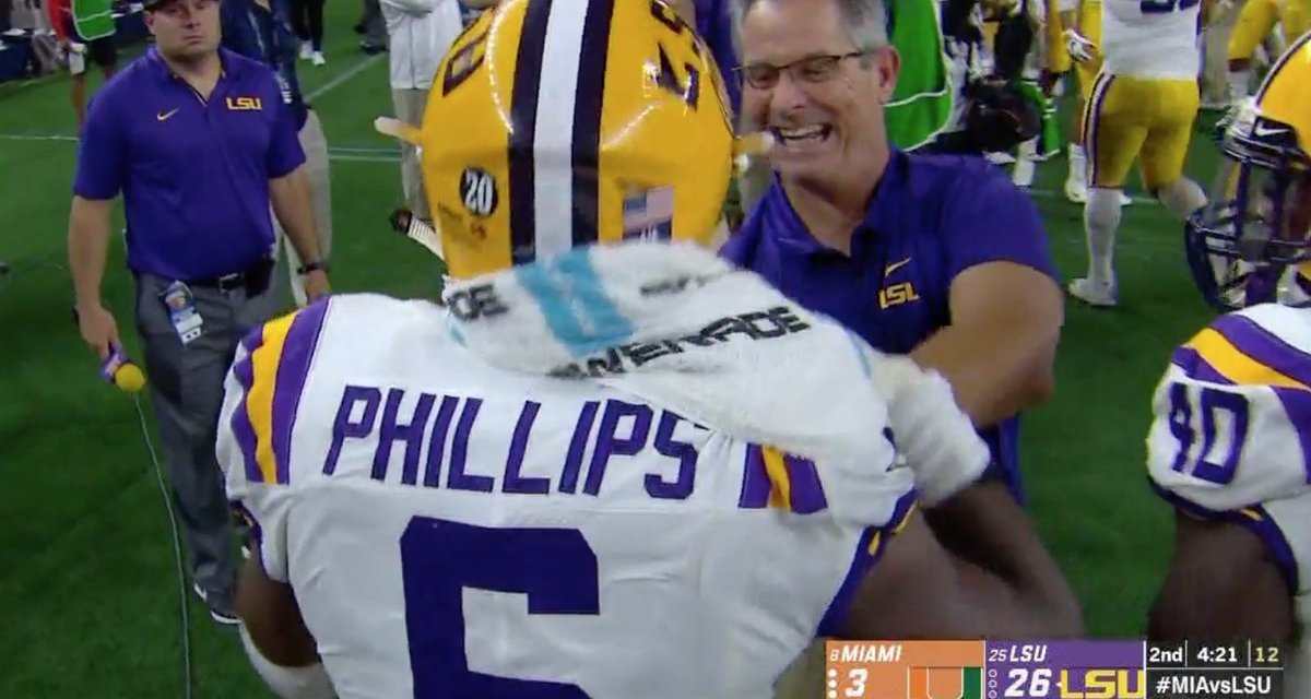 LSU Trolled Miami with the Turnover Towel